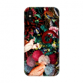 iPhone X  Floral and Animals pattern II by Burcu Korkmazyurek