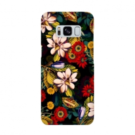 Japanese Floral Pattern by Burcu Korkmazyurek (flowers,japanese,floral,pattern,garden,jungle,tropical,botanical,vintage,retro,oldschool)