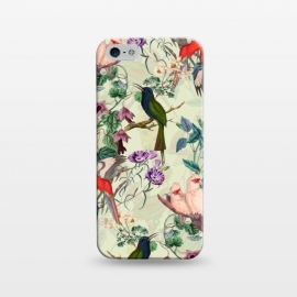 iPhone 5/5E/5s  Floral and Birds X by Burcu Korkmazyurek