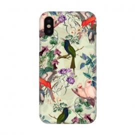 iPhone X  Floral and Birds X by