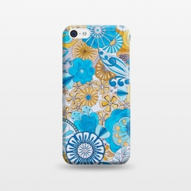 iPhone 5C  Seventies Psychedelic Blooms by Paula Ohreen