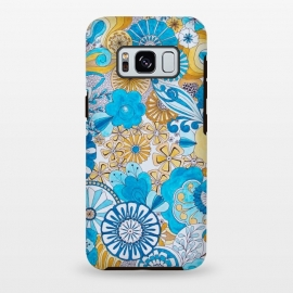 Galaxy S8+  Seventies Psychedelic Blooms by Paula Ohreen