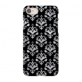 iPhone 8/7  Black and Silver Damask by Olga Khomenko