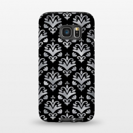 Galaxy S7  Black and Silver Damask by Olga Khomenko