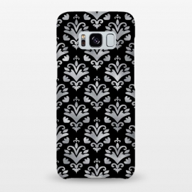 Galaxy S8+  Black and Silver Damask by Olga Khomenko