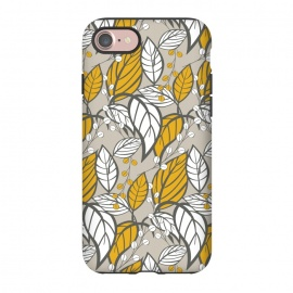 iPhone 8/7  Seamless floral pattern with hand drawn leaves by Jelena Obradovic