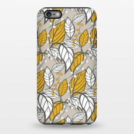 iPhone 6/6s plus  Seamless floral pattern with hand drawn leaves by Jelena Obradovic
