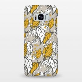 Galaxy S8+  Seamless floral pattern with hand drawn leaves by Jelena Obradovic