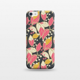 Seamless floral pattern with hand drawn leaves 002 by Jelena Obradovic