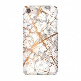 iPhone 8/7  Marble Texture and Gold Splatter 039 by Jelena Obradovic