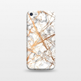 iPhone 5C  Marble Texture and Gold Splatter 039 by Jelena Obradovic