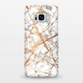 Galaxy S8+  Marble Texture and Gold Splatter 039 by Jelena Obradovic