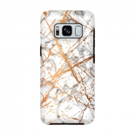 Galaxy S8  Marble Texture and Gold Splatter 039 by Jelena Obradovic