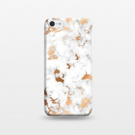 iPhone 5C  Marble Texture with Gold Splatter 040 by Jelena Obradovic
