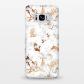 Galaxy S8+  Marble Texture with Gold Splatter 040 by Jelena Obradovic