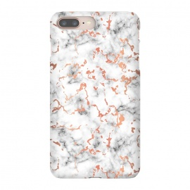 iPhone 8/7 plus  Marble Texture with Copper Splatter 041 by Jelena Obradovic