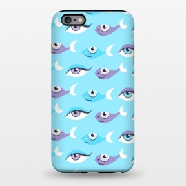 iPhone 6/6s plus  Pattern of purple and blue eyes and fish in sea by Boriana Giormova