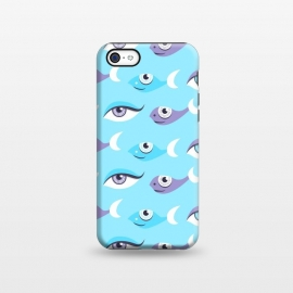 iPhone 5C  Pattern of purple and blue eyes and fish in sea by Boriana Giormova