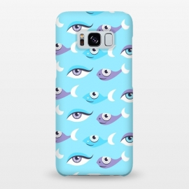Galaxy S8+  Pattern of purple and blue eyes and fish in sea by Boriana Giormova