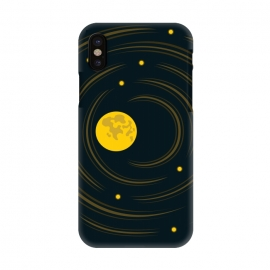 iPhone X  Geek Abstract Stars And Moon by Boriana Giormova