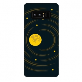 Galaxy Note 8  Geek Abstract Stars And Moon by