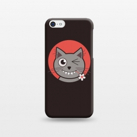 iPhone 5C  Cute Winking Kitty Cat by Boriana Giormova