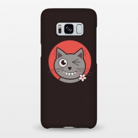 Galaxy S8+  Cute Winking Kitty Cat by Boriana Giormova