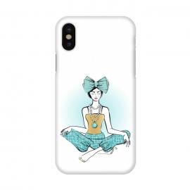 iPhone X  Festive Yoga girl meditation by  (woman,girl,lady,festive,feminine,girlie,stylish,seasonal,holiday,xmas,christmas,yoga,sport,meditation,spirtual)