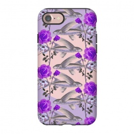 iPhone 8/7  Floral Fishies (Purple) by Zala Farah (fish,fishes,abstract,flowers,floral,flora,floral print,nature,purple,purple flowers,purple fish,cute,animal,animals,sea creature,cute fish,fish and flowers,nature art,nature print,floral art,floral pattern,print,art,abstract art,botanic,zala02creations)