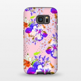 Galaxy S7  Hyper Bloom by Zala Farah (floral,colorful,vibrant,floral print,flower,flowers,super bright,crazy flowers,nature,garden,botanic,tropical,colors,rainbow,cute,abstract,abstract flowers,zala02creations)