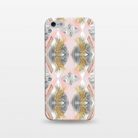 iPhone 5/5E/5s  Marbled tropical geometric pattern II by Mmartabc