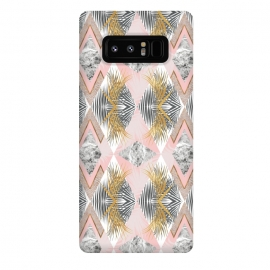 Galaxy Note 8  Marbled tropical geometric pattern II by Mmartabc