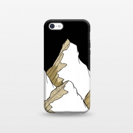 iPhone 5C  Gold Tone Mountains by Steve Wade (Swade)
