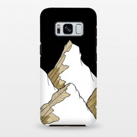 Galaxy S8+  Gold Tone Mountains by Steve Wade (Swade)