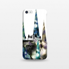iPhone 5C  Geo Nature by Amaya Brydon (geometric,nature,trees,wanderlust,forest,mountains,peaks,watercolor,cosmic,stars,astronomy)