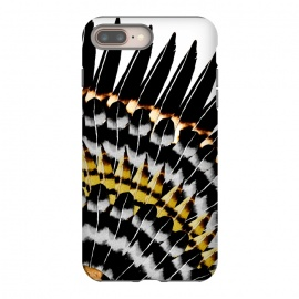 iPhone 8/7 plus  Feather Fringe by Amaya Brydon (feathers,fan,tribal,black,watercolor,pattern,birds,watercolorfeathers)