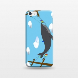 iPhone 5C  There's Not Always Room For One More by Amaya Brydon (whale,sea,fun,ocean,illustration,telephone,birds,humpback,whales,fish,clouds)