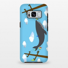 Galaxy S8 plus  There's Not Always Room For One More by  (whale,sea,fun,ocean,illustration,telephone,birds,humpback,whales,fish,clouds)