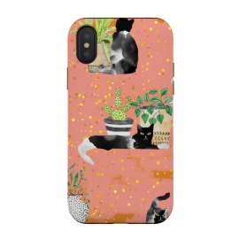 iPhone Xs / X  Cats & Plants by
