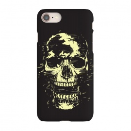 iPhone 8/7  Scream (gold) by Balazs Solti (skull,screaming,black,grunge,gold)