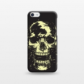 iPhone 5C  Scream (gold) by Balazs Solti (skull,screaming,black,grunge,gold)