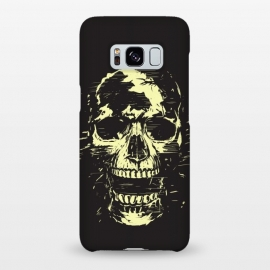 Galaxy S8+  Scream (gold) by Balazs Solti (skull,screaming,black,grunge,gold)