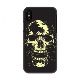 iPhone X  Scream (gold) by Balazs Solti (skull,screaming,black,grunge,gold)