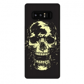 Galaxy Note 8  Scream (gold) by Balazs Solti (skull,screaming,black,grunge,gold)