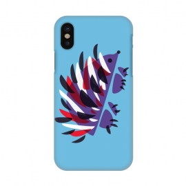 iPhone X  Abstract Colorful Hedgehog by Boriana Giormova