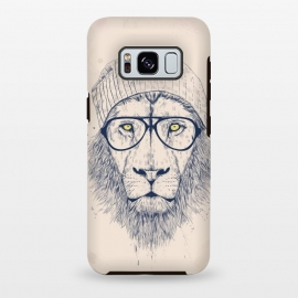 Galaxy S8 plus  Cool lion  by  (lion,animal,cat,drawing,hipster)