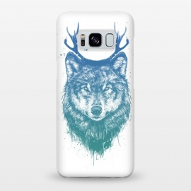 Galaxy S8+  Deer wolf by Balazs Solti (wolf,deer,antlers,drawing,surreal)