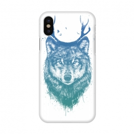 iPhone X  Deer wolf by Balazs Solti