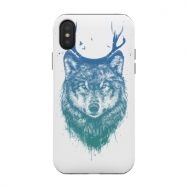 iPhone Xs / X  Deer wolf by Balazs Solti