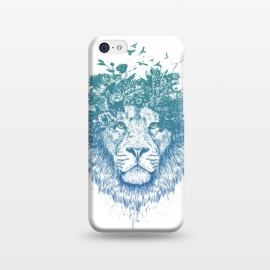 iPhone 5C  Floral lion by Balazs Solti